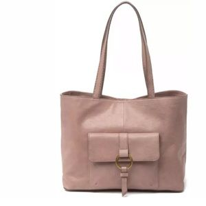 NEW Frye Madison Front Pocket Leather Tote